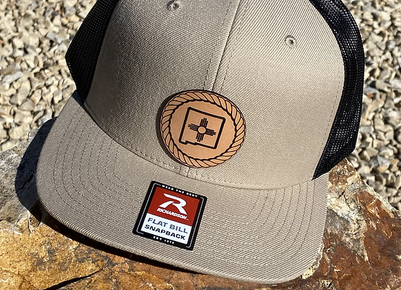 NM Zia Leather Patch Flatbill Richardson Hat