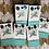 Thumbnail: Cowhide Stud Post Earrings Dark Brow Blue Wash