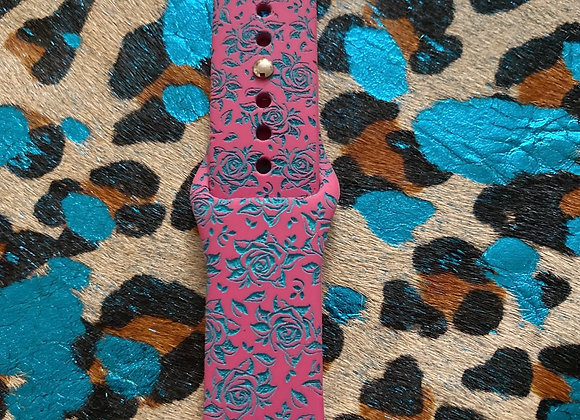 Rose Engraved Watchband 42/44