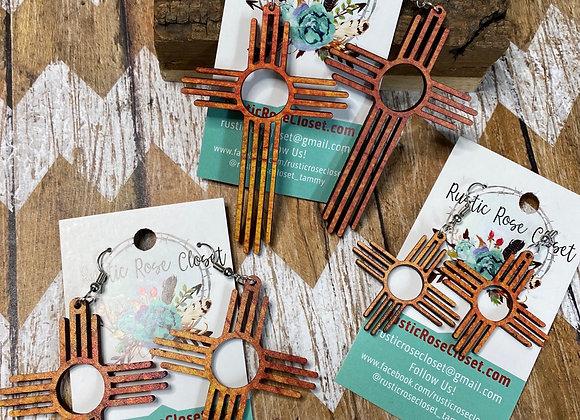 Zia Sun Kissed Pantina Wood Earrings