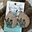 Thumbnail: Cactus Teardrops Wood Earrings