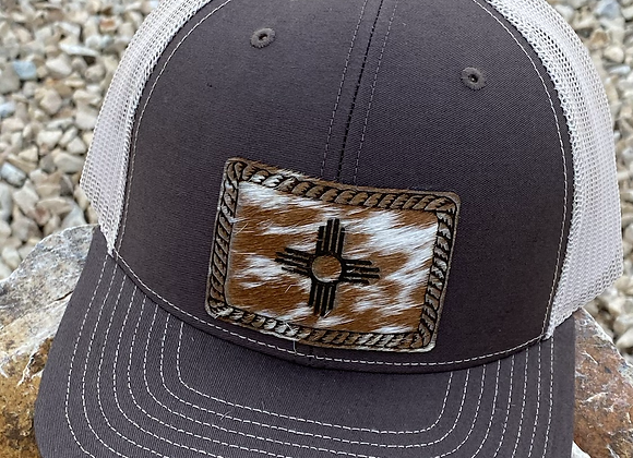Cowhide Leather Zia Rope Patch on Richardson Snapback Hat