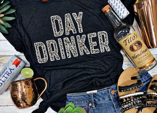 Day Drink-er Leopard Graphic Tee