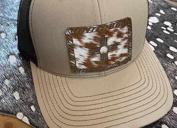Cowhide Rope Zia Rectangle Patch