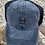 Thumbnail: Sugar Skull Cowhide Patch Criss Cross Ponytail Hat