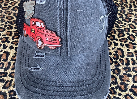 Vintage Truck Leather Patch Hats