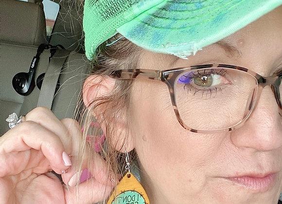 I Don't Speak Dipshit Wood Teardrop Beth Dutton Earrings
