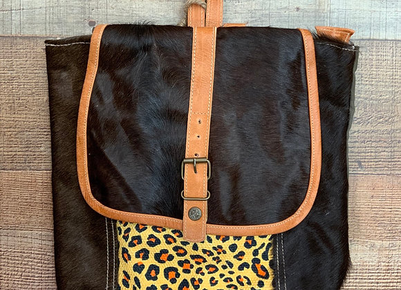Leopard & Canvas Backpack  Appo Backpack