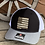 Thumbnail: New Mexico Shape Flag Patch Engraved Hide on Richardson 112 Trucker Hat