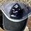Thumbnail: Cowhide Patch Zia Heart Gray Crisscross Ponytail Hat