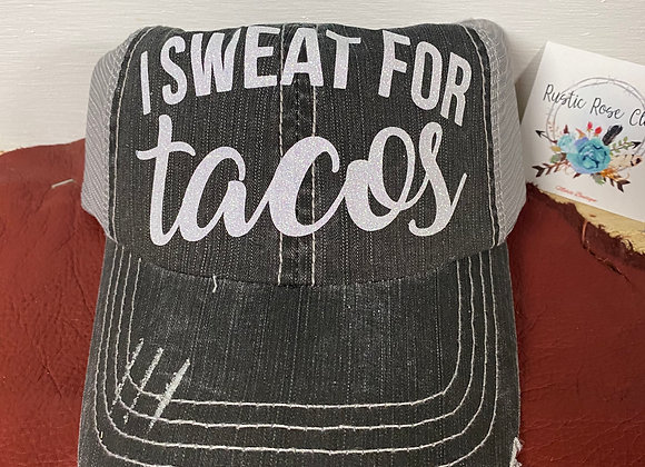 Taco Time & I Sweat for Tacos Graphic Baseball Hat