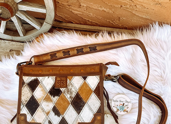 sTs Ranchwear Claire Diamond Cowhide Leather Crossbody Bag
