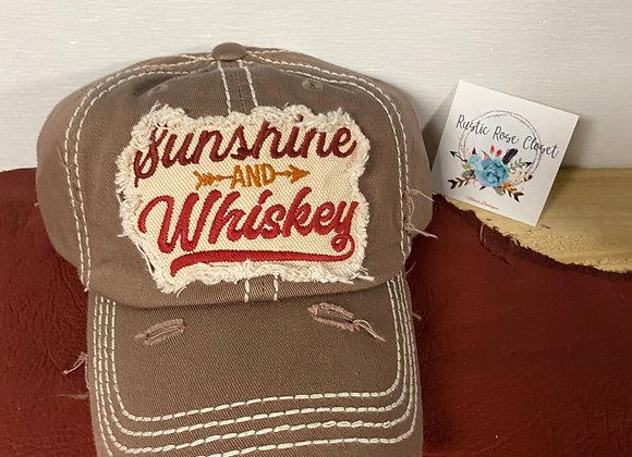 Sunshine and Whiskey Baseball Hat