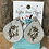 Thumbnail: Cowhide Teardrop Earrings with Horses Engraved