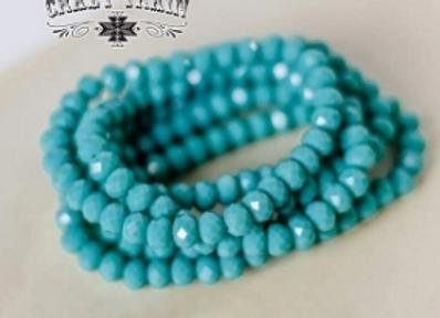Turquoise Stretch Bahama Babe Bracelet