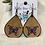 Thumbnail: Butterfly Leather Teardrop Handpainted Earrings
