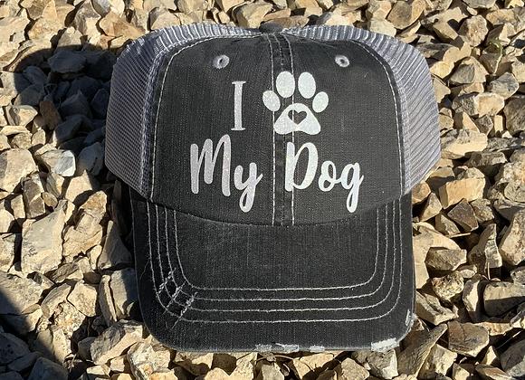I Love My Dog 🐾 Vintage Trucker Hat