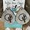 Thumbnail: Cowhide Teardrop Engraved Cactus Moon Earrings