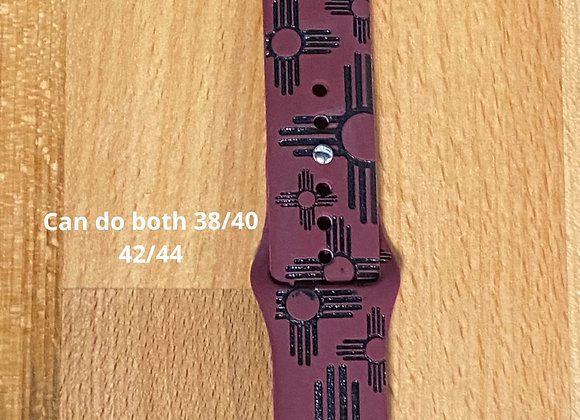 Burgundy Zias Watchbands