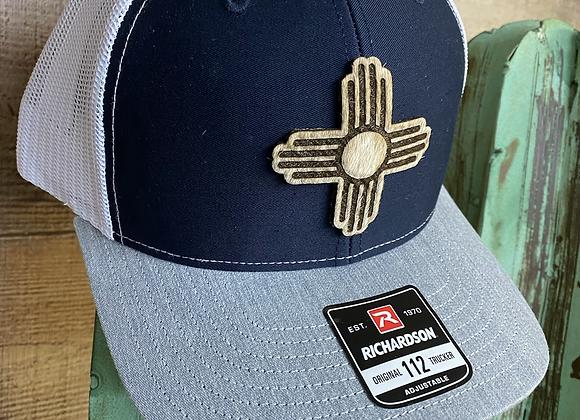 Cowhide Zia Leather Hide Patch Richardson Hat