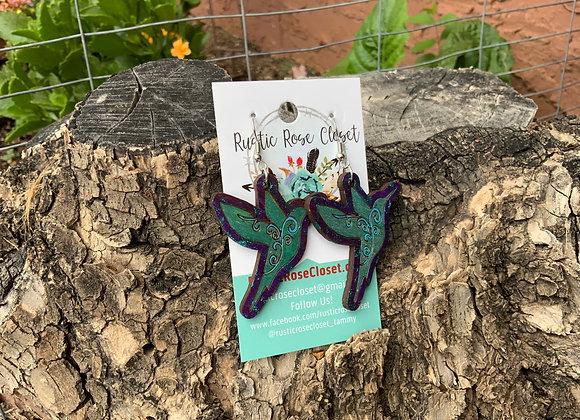 Hummingbird Wood Earrings