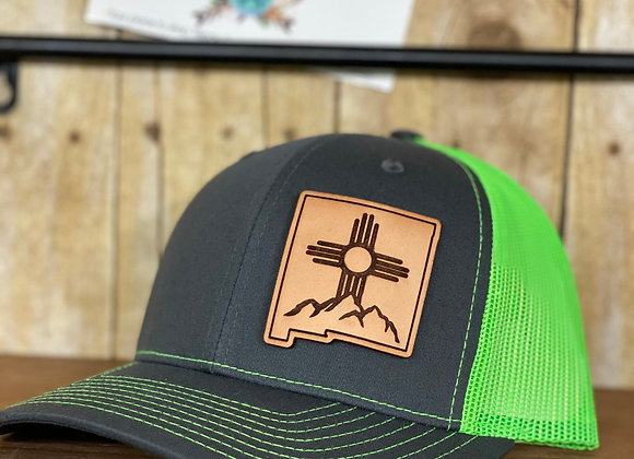 Zia Mountains Leather Patch Richardson Trucker Hats