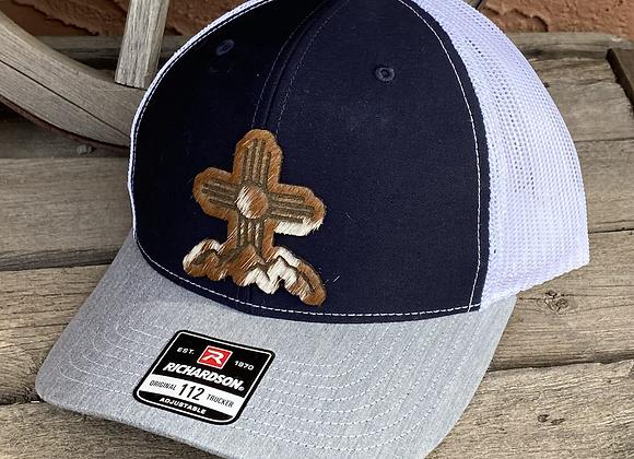 Zia Mountain Patch on Hide Richardson 112 Trucker Hats