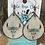 Thumbnail: Cowhide Teardrop Steer & Boho Arrow Engraved & Painted Earrings