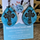 Thumbnail: Turquoise Crackle Wood Teardrop Earrings with Engraved Cross Earrings