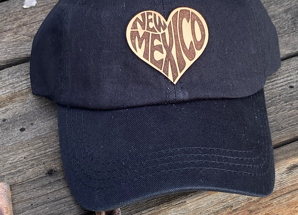 New Mexico Heart Leather Patch Ponytail Hat