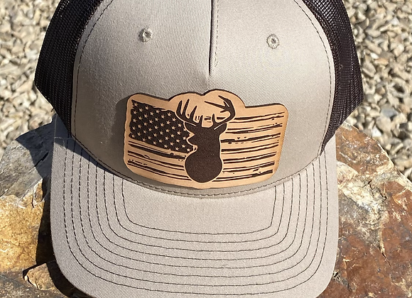 Deer Leather Patch Richardson Hat