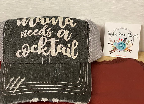Mama Needs A Cocktail Baseball Hat