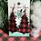 Thumbnail: Plaid Christmas Tree Wood Pattern Earrings