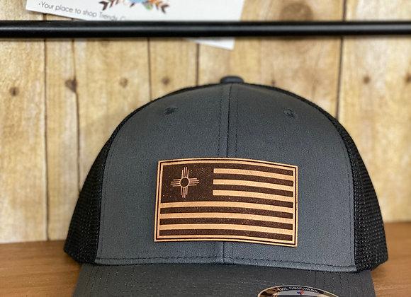 Zia Flag Leather Patch Richardson Hats