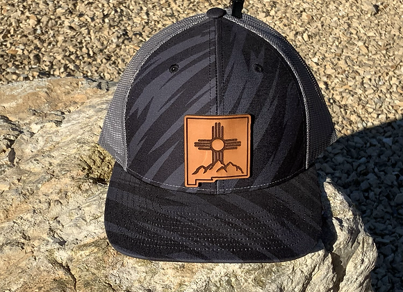 NM Shape Zia Mountains Leather Patch Hats