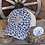 Thumbnail: Snow Leopard Crisscross Ponytail Hat with Leather Zia Faith Patch