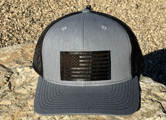Leather Patch Flag Trucker and Fitted Hats