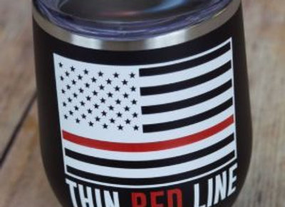 Red Thin Line Tumblers