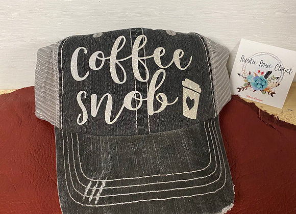 Coffee Snob Baseball Hat