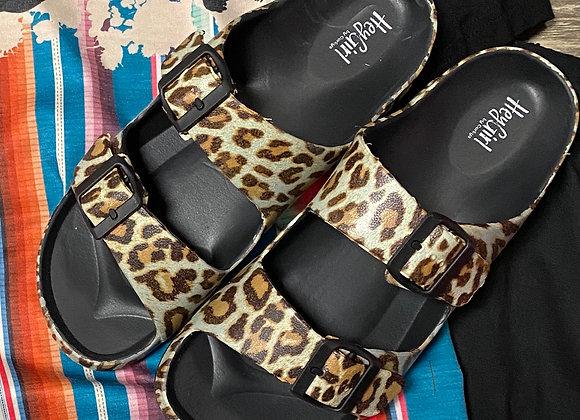 Hey Girl Leopard Waterslide Slip on Sandals by Corky