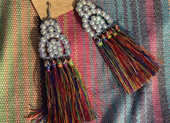 Rhinestone Tassle Earrings