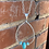 Thumbnail: Turquoise Silver Chain Teardrop Long Necklace