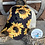 Thumbnail: Sunflower Pattern Crisscross Ponytail Messybun Hat with Zia Cowhide Patch