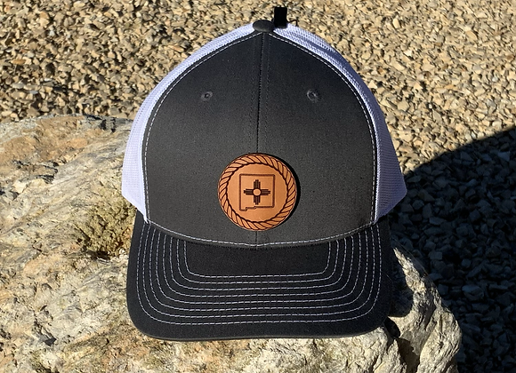 Rope Leather Patch New Mexico Zia Hats