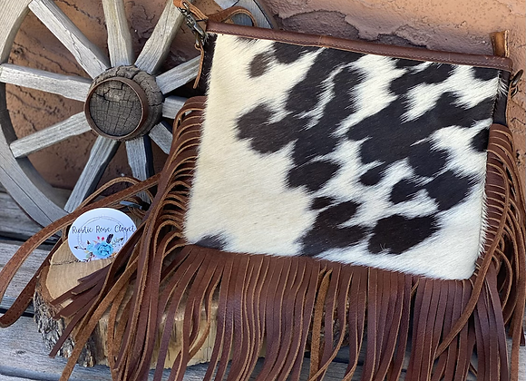 American Darling and Crossbody Cowhide bag with Fringe