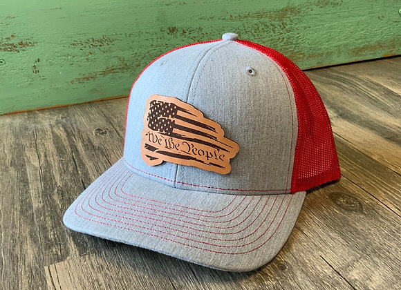 We The People Patriotic Leather Patch Richardson Hat