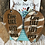 "Thumbnail: Cowhide Upsidedown Teardrop ""Live Like Someone Left the Gate Open"" Earrings"