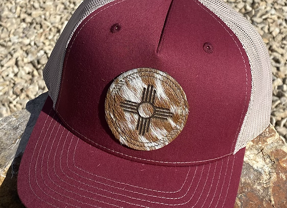 Cowhide Hair on Hide Patch Richardson Hat