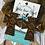 Thumbnail: Cowhide Aztec Cross Earrings