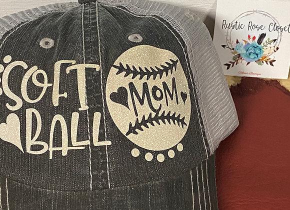 Softball Mama Baseball Hat